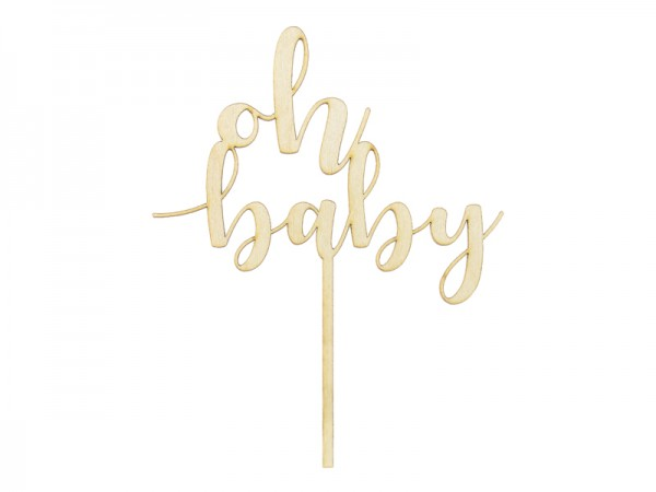 Cake Topper Holz oh baby