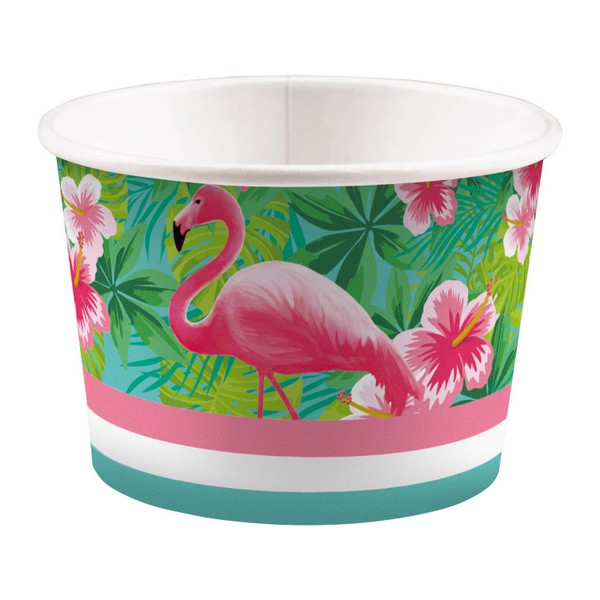 Food Cups Flamingo Paradise