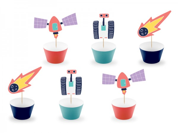 Cupcake Set Space Party