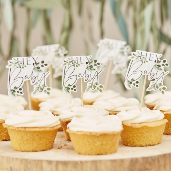 Cupcake Topper Hey Baby