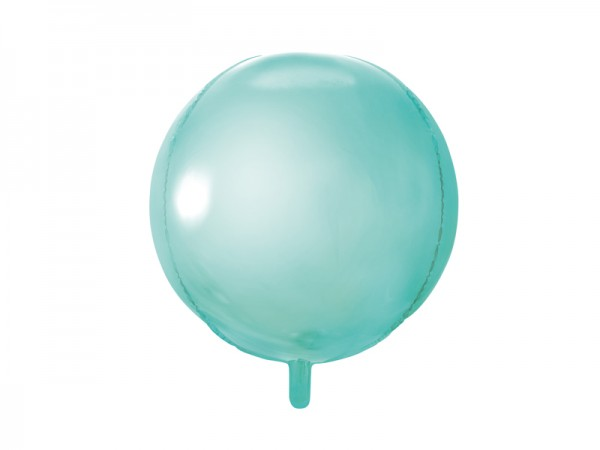 Folienballon Kugel matt mint 40 cm