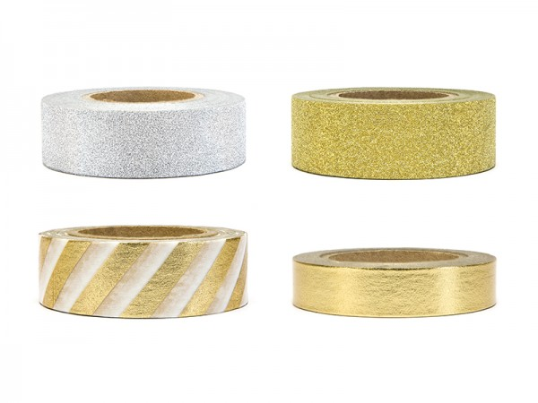 Washi Tape Set gold/silber