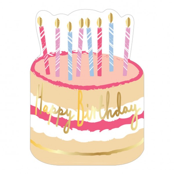 Servietten Happy Birthday Torte blush