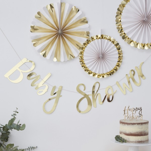 Girlande Baby Shower gold