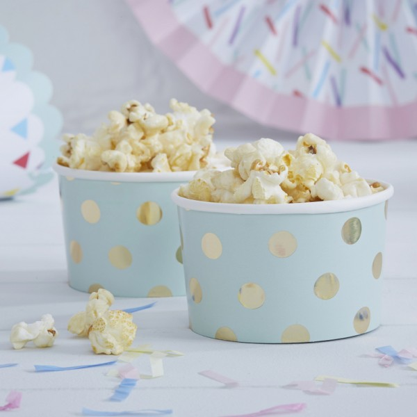 Food Cups Dots gold