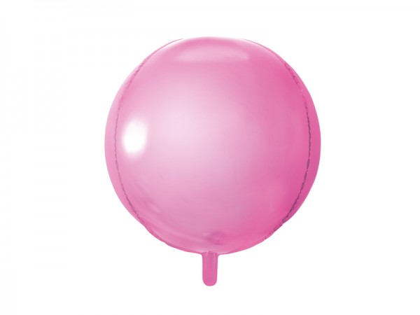 Folienballon Kugel metallic rosa 40 cm