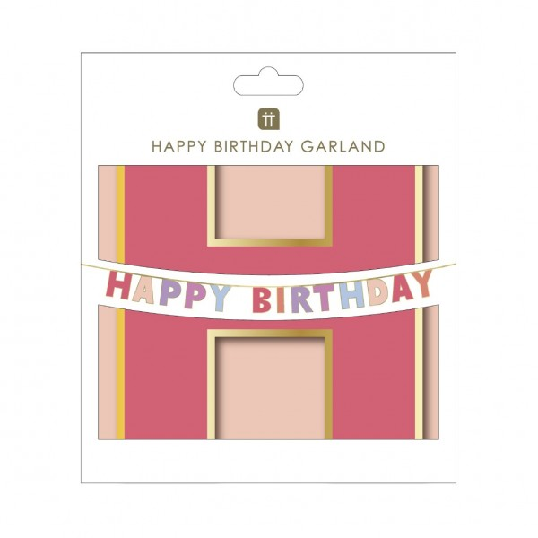 Girlande Happy Birthday blush