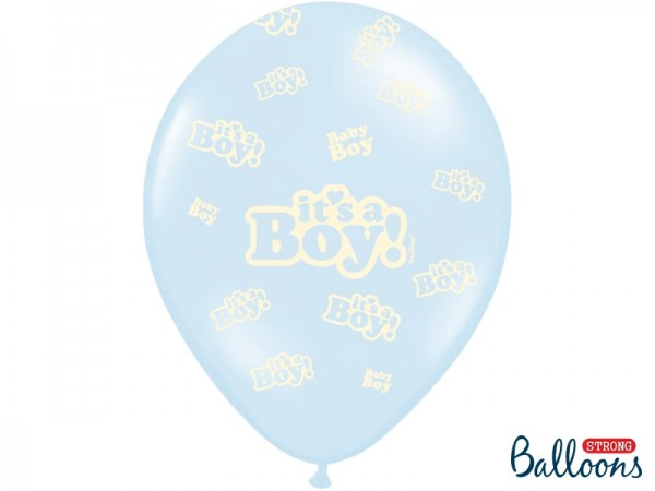 Ballons it's a boy hellblau