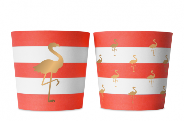Food Cups Preppy Flamingo