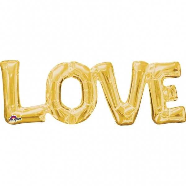 Folienballon LOVE gold