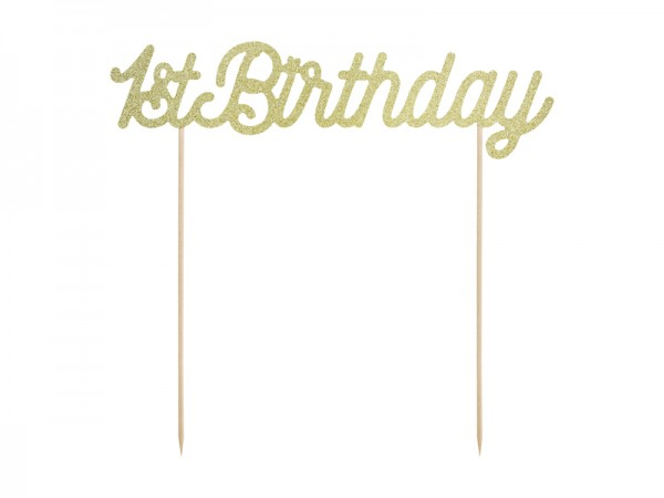 Cake Topper 1stBirthday gold