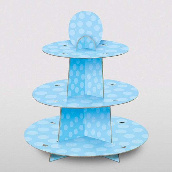 Pappetagere Dots hellblau