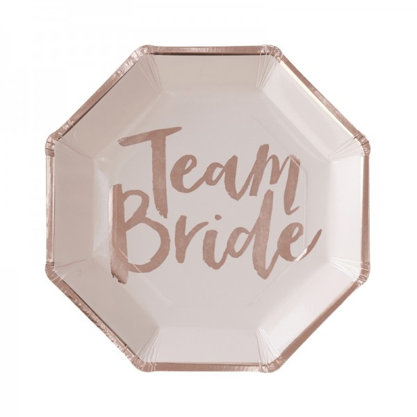 Pappteller Team Bride
