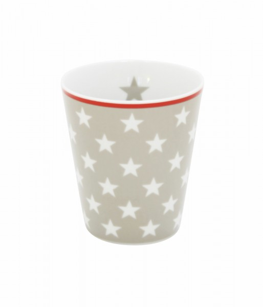 Becher taupe star