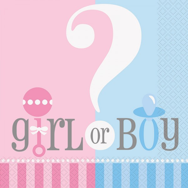 Servietten Gender Reveal Girl or Boy