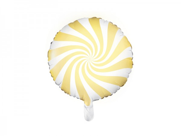Folienballon Candy gelb