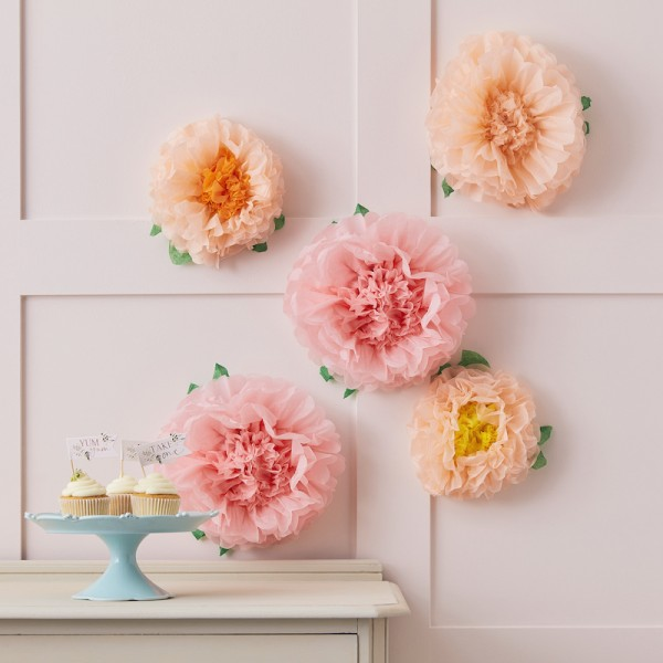 Pompon Blumen Floral Tea Party