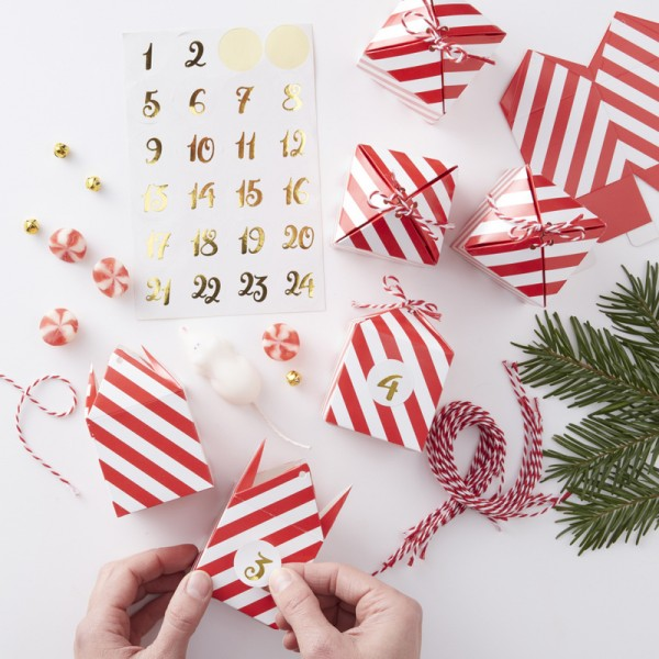 Adventskalender Boxen Red & Gold