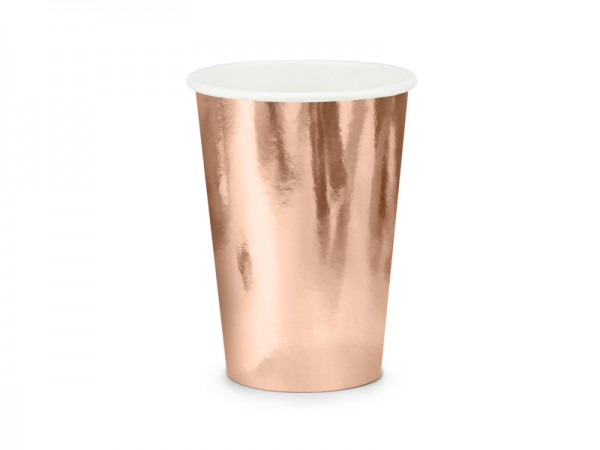 Pappbecher metallic roségold 220ml