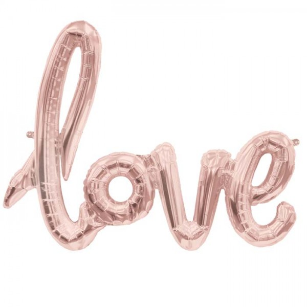 Folienballon Love rosegold