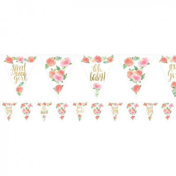 Wimpelgirlande Floral Baby
