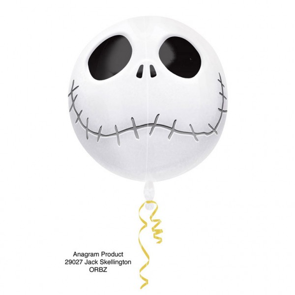 Folienballon Kugel Jack Skellington