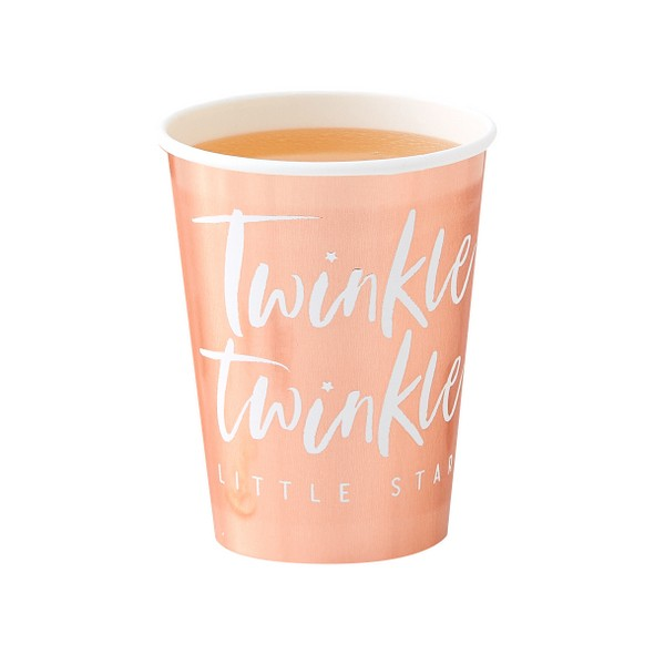 Pappbecher roségold Twinkle Twinkle