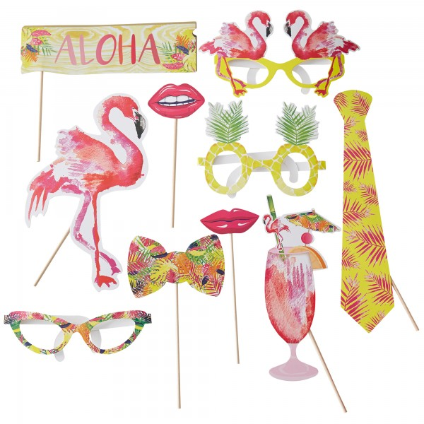 Photo Booth Set Flamingo Fun